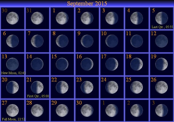 moon phase 994 september 6 2015 995 september 13 2015 996 september ...